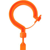 "Ergodyne® Squids® 3540L Tie Hook, Large Locking Hook, Orange, 19.7"" Belt Length - Pkg Qty 6"