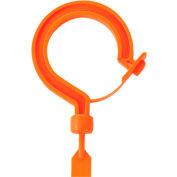 "Ergodyne® Squids® 3540L Tie Hook, Large Locking Hook, Orange, 19.7"" Belt Length - Pkg Qty 6"