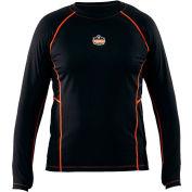 Ergodyne CORE Performance Work Wear™ 6435 Long Sleeve Shirt, Black, Medium
