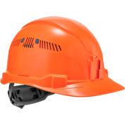 Ergodyne Skullerz® 8972 Hard Hat Cap Style, Ratchet Suspension, Vented, Class C, Orange