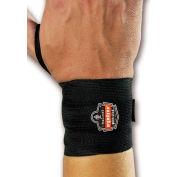 Ergodyne® 420 Wrist Wrap with Thumb Loop, Black, L/XL - Pkg Qty 6