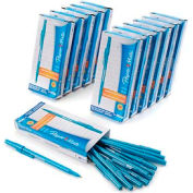 Paper Mate® Write Bros Ballpoint Stick Pen, Medium, Blue Ink, Dozen