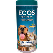 ECOS® 991806, Pet Wipes, 35 Ct. Pre-Moistened Wipes/Tub