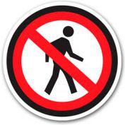 """Durastripe 12"""" Round Sign - No Pedestrian - No Text"""
