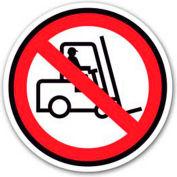"""Durastripe 16"""" Round Sign - No Forklift - No Text"""