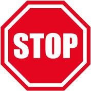 """Durastripe 12"""" Octagone Sign - Stop"""