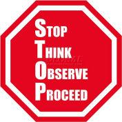 "Durastripe 12"" Octagone Sign - Stop Think Observe Proceed"