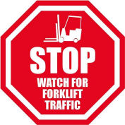 "Durastripe 12"" Octagone Sign - Stop Watch For Forklifts"