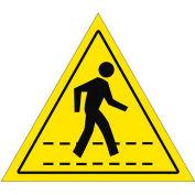 "Durastripe 12"" Triangular Sign - Pedestrian Crossing No Text"