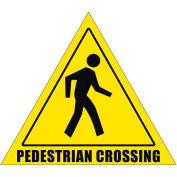 "Durastripe 12"" Triangular Sign - Pedestrian Crossing"