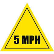 """Durastripe 12"""" Triangular Sign - Caution 5 Mph"""