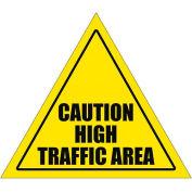 "Durastripe 12"" Triangular Sign - Caution High Traffic Area"