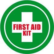 "Durastripe 12"" Round Sign - First Aid Kit"