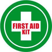 """Durastripe 12"""" Round Sign - First Aid Kit"""