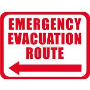 "Durastripe 12""X9"" Rectangle - Emergency Evacuation Route"