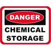 "Durastripe 12""X9"" Rectangle - Danger Chemical Storage"