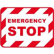 "Durastripe 12""X9"" Rectangle - Emergency Stop"