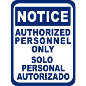 """Durastripe 12""""X9"""" Rectangle - Notice Authorized Personnel Only"""