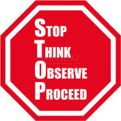 "Durastripe 16"" Octagone Sign - Stop Think Observe Proceed"