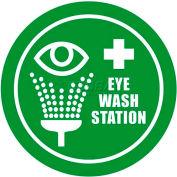 """Durastripe 16"""" Round Sign - Eye Wash Station"""