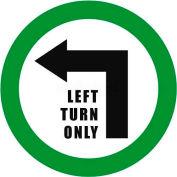 """Durastripe 16"""" Round Sign - Left Turn Only"""