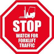 "Durastripe 20"" Octagone Sign - Stop Watch For Forklifts"