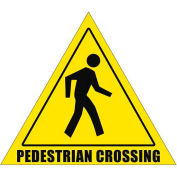 "Durastripe 20"" Triangular Sign - Pedestrian Crossing"
