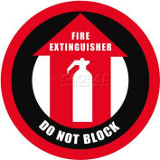 """Durastripe 20"""" Round Sign - Fire Extinguisher Do Not Block"""