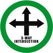 """Durastripe 20"""" Round Sign - 3-Way Intersection"""