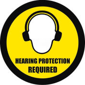 """Durastripe 24"""" Round Sign - Hearing Protection Required"""