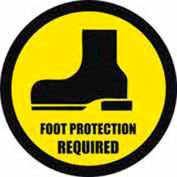"""Durastripe 24"""" Round Sign - Foot Protection Required"""