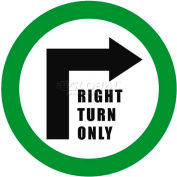 """Durastripe 24"""" Round Sign - Right Turn Only"""