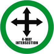 """Durastripe 24"""" Round Sign - 4-Way Intersection"""