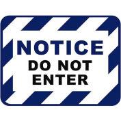 """Durastripe 24""""X18"""" Rectangle - Notice Do Not Enter"""
