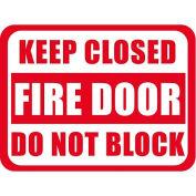 "Durastripe 30""X21"" Rectangle - Keep Closed Fire Door Do Not Block"
