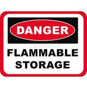 "Durastripe 30""X21"" Rectangle - Danger Flammable Storage"