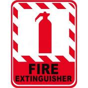 "Durastripe 30""X21"" Vertical Rectangle - Fire Extinguisher"