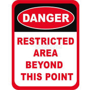 """Durastripe 30""""X21"""" Rectangle - Restricted Area Beyond This Point"""