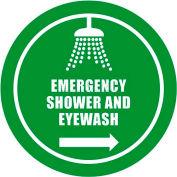 """Durastripe 32"""" Round Sign - Emergency Shower And Eyewash"""