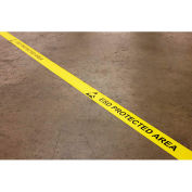 """DuraStripe® In-Line Printing, 2""""W x 50'L, Yellow, ESD PROTECTED AREA"""