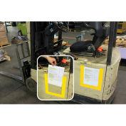DuraStripe® DuraView Signage System, Short Side Open, Blue Frame, 10/Pack