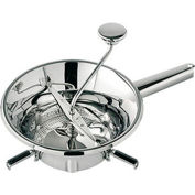 "Tellier N3004X - Food Mill, 3-1/2 Qt. Capacity, 3 Sieve Cutting Plates, Stainless Steel, 8-1/4"" Dia."
