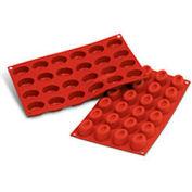 Silikomart SF083 - Baking Mold, Savarin Oval, Silicone, Makes 24 Pieces