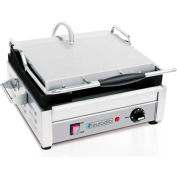 Eurodib SFE Series Panini Grill 120V Grooved Full-Top - SFE02325