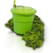 Eurodib SP027 - Large Salad Spinner, 5 Gallons,  Up To 6 - 8 Heads of Lettuce, Folding Handle, Green