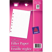 "Avery® Mini Binder Filler Paper 14230, 5-1/2"" x 8-1/2"", White, 100 Sheets"