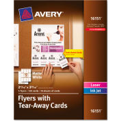 "Avery® Flyers W/Tear-Away Cards 16151, 8-1/2"" x 11"", White, 120/Pack"