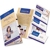 "Avery® Tri-Fold Brochure w/Tear-Away Cards 16152, 8-1/2"" x 11"", Soft Gloss White, 50/Pack"