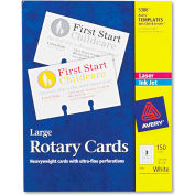 "Avery® Large Rotary Cards 5386, 3"" x 5"", 3 Cards/Sheet, 50 Cards/Box"