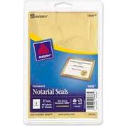 "Avery® Print or Write Notarial & Certificate Seals, 2"" Diameter, Gold, 44 Labels/Pack"
